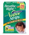 Vicks Vapors Breathe Right Mentholated Vapor Strips for Cold & Allergy Relief, Small/Medium, 28-Count Boxes (Pack of 2)