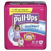 Huggies Pull-Ups Training Pants for Girls with Cool Alert, Jumbo Pack, Size 2T-3T 26 each